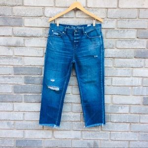 We The Free Jeans Raw Hem Cropped